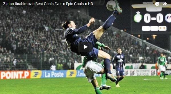 Cele mai tari goluri marcate de Zlatan